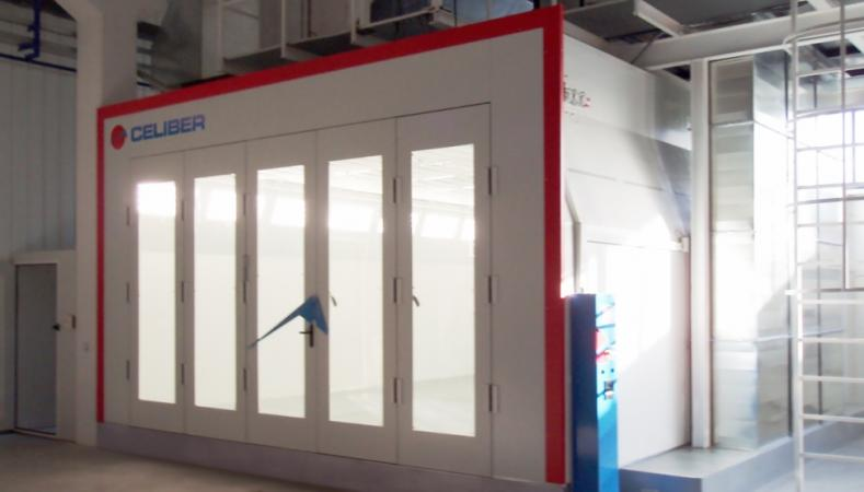 Spray and dry booths for Aeronautic Industry.